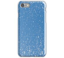 Melting snow spots on the blue sky iPhone Case/Skin