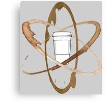 Coffee Atom Canvas Print
