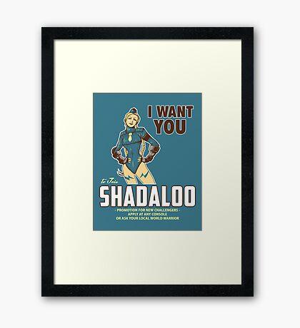 Shadaloo Wants YOU! Framed Print