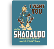 Shadaloo Wants YOU! Canvas Print