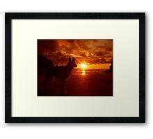 Everythings beachy. Framed Print