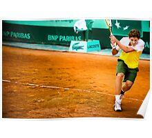 Roberto Carballes Baena @ Roland Garros Poster