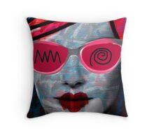 Cardboard Pink Girl Throw Pillow