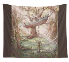 Fisherman of the Forest Wall Tapestry