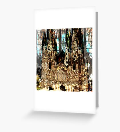 LICHFIELD CATHEDRAL ABSTRACT Greeting Card