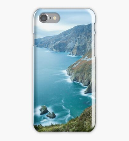 Slieve League sea cliffs in Co. Donegal iPhone Case/Skin