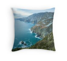 Slieve League sea cliffs in Co. Donegal Throw Pillow