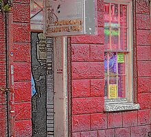 """New Orleans - Bourbon Street with """"Pencil"""" Effect by Frank Romeo"""