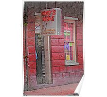 """New Orleans - Bourbon Street with """"Pencil"""" Effect Poster"""