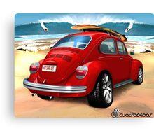 Escarabajo surfero Canvas Print