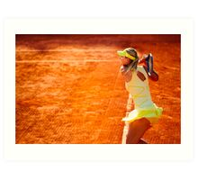 Maria Sharapova @ Roland Garros Art Print