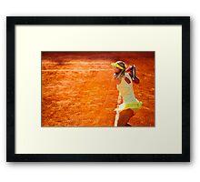 Maria Sharapova @ Roland Garros Framed Print