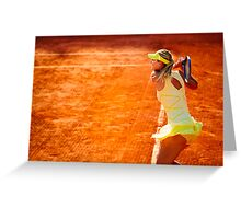 Maria Sharapova @ Roland Garros Greeting Card