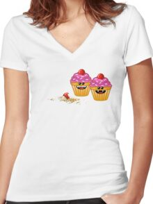 CUPCAKE CANNIBALS 2 Women's Fitted V-Neck T-Shirt