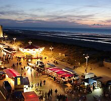 Night market at De Panne in Belgium by Jean-Marie Polain