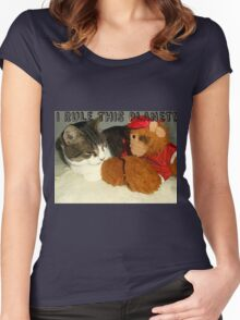"""I Rule This Planet"" Cat Vs Alf Puppet Women's Fitted Scoop T-Shirt"