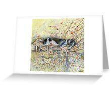 A Little Wallflower Greeting Card