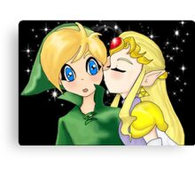 Zelda's Kiss Canvas Print