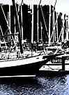 Shotley Marina Abstract by Darren Burroughs