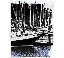 Shotley Marina Abstract Poster