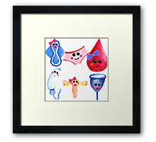 The cutest time of the month –  Gouache Framed Print