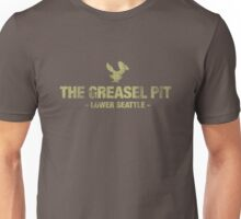 The Greasel Pit - Green on Dark Grey Shirt Unisex T-Shirt