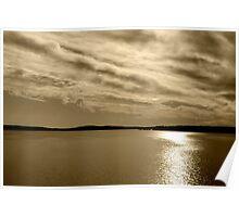 Serene Waters at Jordan Lake Poster