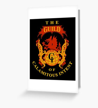 The Guild of Calamitous Intent - The Venture Brothers Greeting Card