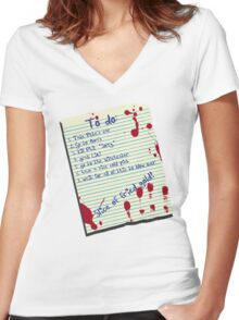 The List Women's Fitted V-Neck T-Shirt