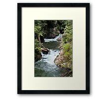 Franklin Falls, Denny Creek, Snoqualmie Forest Framed Print