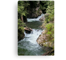 Franklin Falls, Denny Creek, Snoqualmie Forest Canvas Print