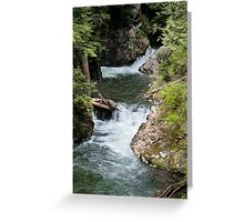 Franklin Falls, Denny Creek, Snoqualmie Forest Greeting Card