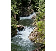 Franklin Falls, Denny Creek, Snoqualmie Forest Photographic Print