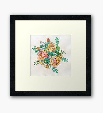 Peach Bouquet Framed Print