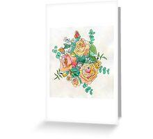 Peach Bouquet Greeting Card