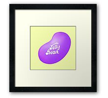 Jelly Belly Jelly Bean Design-  Sour Grape Framed Print