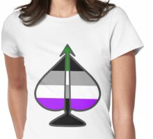 Arrow Through the Spade Womens Fitted T-Shirt