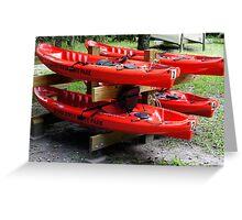 Silver River Kayaks Greeting Card