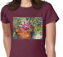 Fuchsia Womens Fitted T-Shirt