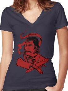Bill The Butcher Women's Fitted V-Neck T-Shirt