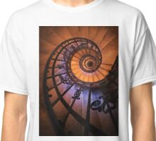 Spiral staircase  in orange and blue Classic T-Shirt