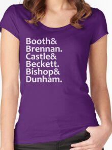 Booth, Brennan, Castle, Beckett, Bishop, Dunham Women's Fitted Scoop T-Shirt
