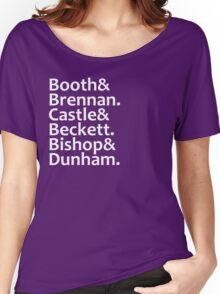 Booth, Brennan, Castle, Beckett, Bishop, Dunham Women's Relaxed Fit T-Shirt