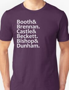 Booth, Brennan, Castle, Beckett, Bishop, Dunham Unisex T-Shirt