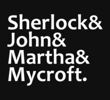 Sherlock, John, Martha, Mycroft by Fiona Reeves