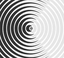 Spiky Circle Pattern - Black and White by joshdbb