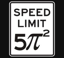 Speed Limit  5 Pi Squared Kids Clothes
