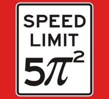 Speed Limit  5 Pi Squared Baby Tee