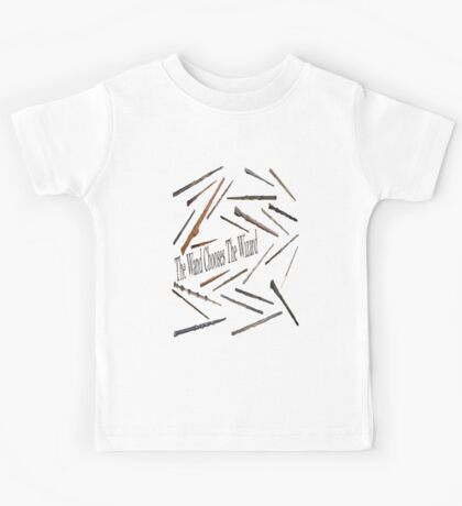 the wand chooses the wizard Kids Tee