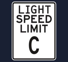 Light Speed Limit Sign One Piece - Short Sleeve